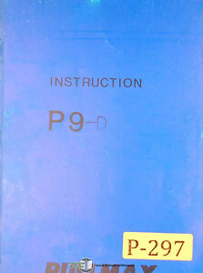 Pullmax P9 P9 d Duplicator Machine Instructions And Parts Manual