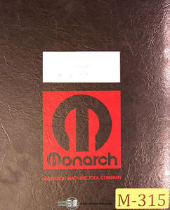 Monarch Ee 50392 10 Lathe Operations Lubrications And Electrical Manual 1970