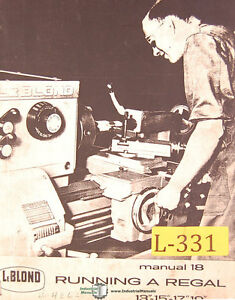 Lodge Shipley 10 Hi turn Lathe Operations Manual