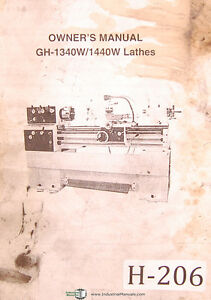 Birmingham Acra Gh 1340w 1440w Lathes Owners Manual