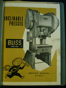 Bliss A 110 c Service Manual
