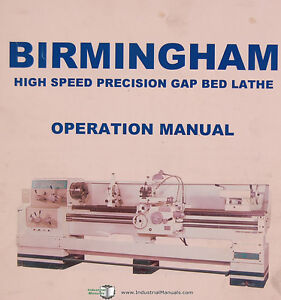 Birmingham Dl Series 18 22 26l Gap Bed Lathe Operations Manual