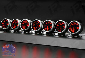 3x Link Meter Bf Defi Style Gauge 60mm Red white Universal Fitment Kit