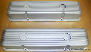 Cal Custom Sb Chevy Valve Covers Finned Baffled Painted