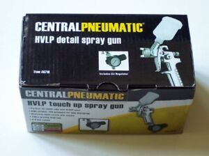 Central Pneumatic Hvlp Touch Up Spray Gun With Regulator New