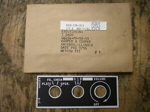 Wwii Jeep Mb Gpw Radio Bc 659 Nos Data Plate Willys G503