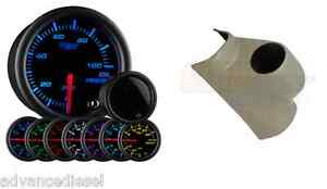 Glowshift Tinted 7color Psi Oil Pressure Gauge Taupe Pod For 03 09 Cummins