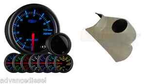 Glowshift Tinted 7 Color 2 Tachometer Gauge Taupe Pod For 03 09 Dodge Cummins