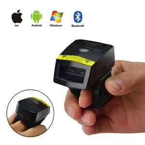 Fs02 Bluetooth Wearable Ring 2d Laser Barcode Scanner Support Ios Android