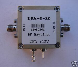 0 3 6500mhz Wideband Rf Amplifier Lpa 6 30 New Sma