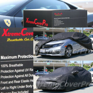 2015 Honda Civic Civic Si Sedan Breathable Car Cover W mirror Pockets Black
