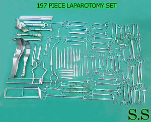 197 Pcs Laparotomy Set Surgical Medical Instruments Lot Ds 1020