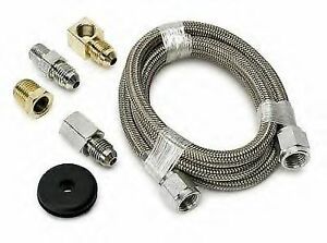 Autometer 3229 4 An Ss Braided Oil Fuel Pressure Gauge Hose Tubing Line Kit