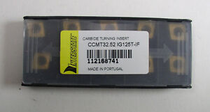 10 Interstate 112168741 Carbide Turning Insert Ccmt32 52 Ig125t if Pack Of 10