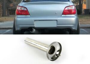 Quiet Stainless Steel Inner Insert For 4 Carbon Burnt Blue Muffler Silencer Tip