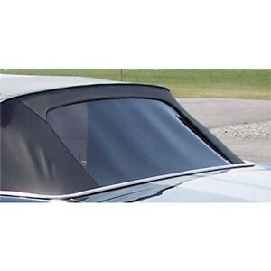 Mustang Convertible Top Plastic Curtain Pinpoint Vinyl 1967 1968 1969 1970 White