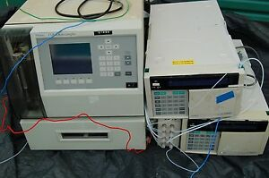 Waters Autosampler 717 Plus Hitachi Lc Pump Hplc Detector Degasser Uv System