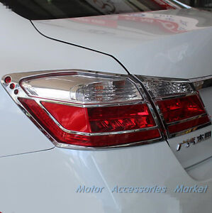New Chrome Rear Light Cover Trim For Honda Accord Mk9 2013 2014 2015