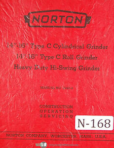 Norton 14 16 Type C Cylindrical Grinder Hi swing Operations