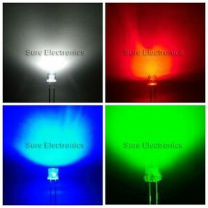 250pcs 10mm Round Top Red green blue Superbright Led Light Lamp