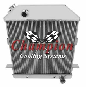 1939 40 41 Ford Deluxe W chevy V8 Champion 3 Row Aluminum Radiator Cc4001ch