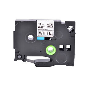 Black On White 12mm Label Tape For Brother Tz 231 Tze 231 P touch Pt 1900