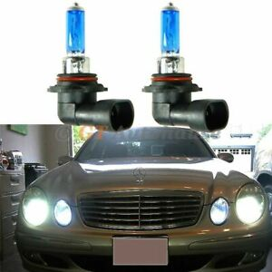 Pair Super White 55w 9006 Halogen Light Bulbs For Low Beam Headlight Direct Fit