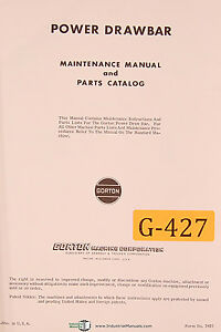 Gould Eberhardt 24h Manufacturers Gear Hobbing Operators Manual 1951
