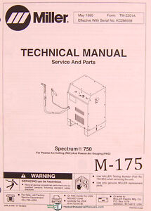 Miller Spectrum 750 For Plasma Arc Cutting And Gouging Service