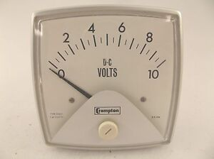 Crompton Dc Volts 0 10 Panel Meter Type 016 01 Style 210701