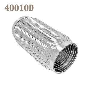 40010d Exhaust Flex Pipe Stainless Steel Double Braid 4 X 10 Oal