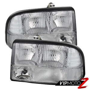 98 04 Gmc Sonoma Jimmy S15 Euro Clear Front Headlight Fog Bumper Parking Lamp
