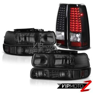 1999 2002 Chevy Silverado 2500hd Signal Head Lights Matte Black Tail Light Brake