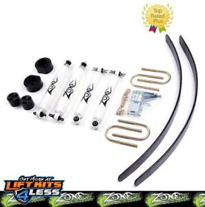 Zone Offroad 2 Suspension System Lift Kit Gas For 1984 01 Jeep Cherokee Xj 4x4