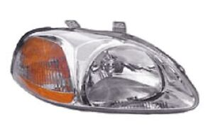 96 97 98 Honda Civic Headlight Passenger New Headlamp