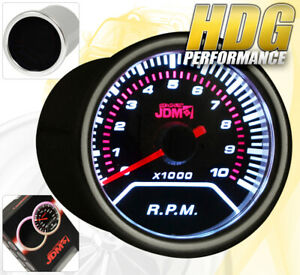 Universal Engine Speed Rpm Tachometer Gauge Autometer Reverse Glow Led Smoke Len