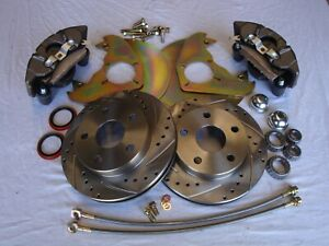 1970 1973 Ford Mustang Disc Brakes Fits 14 Drum Wheels Cross Drill Slotted