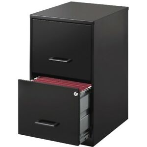 Lorell Llr14341 Steel File Cabinet 2 drawer 14 1 4 x18 x24 1 2 Black Black