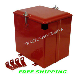 Ih Farmall Super A C Av A 1 Av 1 Battery Box New W Brackets 350634r91 358544r91