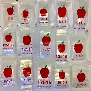 23 Size Mix Pack 2300 Pieces Mini Zip Lock Clear Baggies 2 5mil 100 guaranteed
