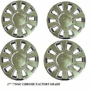 2006 2011 Crown Victoria Set Of All 4 Chrome Wheel Covers 17inch 77036c New