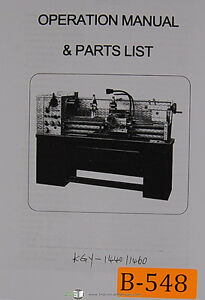 Birmingham Kgy Lathe Installation Operations And Parts Manual