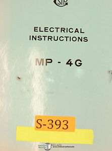 Sip Mp 4g Jig Boring Mill Electrical Instructions Manual