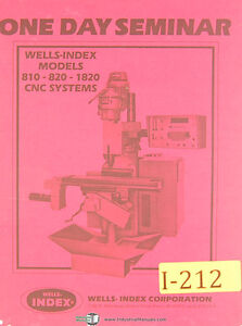 Wells Index 810 820 1820 Cnc Sytems Seminar Manual Year 1982