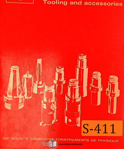 Sip Tooling And Accessories Tooling System Manual Year 1978