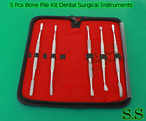 Bone File Kit Dental Surgical Orthopedic Veterinary Surgery Instrument 5 Dn 2176