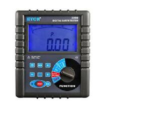 Etcr3000 Digital Clamp On Ground Earth Resistance Tester Meter new