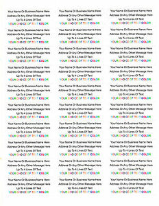 450 Personalized Return mailing Address Labels 1 X 2 625 Free Usa Shipping
