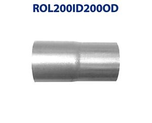 2 Id To 2 Od Universal Exhaust Pipe To Component Coupling Connector