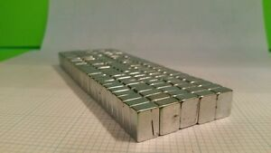 100 Neodymium Block Magnets Super Strong Rare Earth 1 2 3 8 1 4